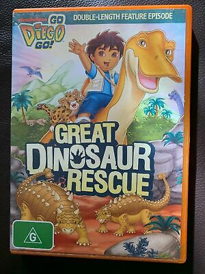 Go Diego Go! - Great Dinosaur Rescue DVD FREE Shipping • 5.49£