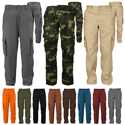 $29.95 • Buy Men's Cotton Casual Tactical Utility Multi Pocket Cargo Military Work Pants
