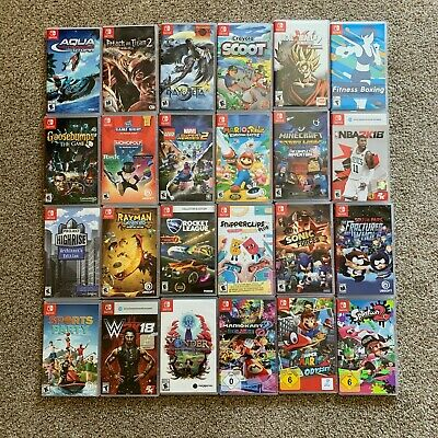 $8.99 • Buy Replacement Case ONLY NO GAME Assorted Lot Nintendo Switch Original COVER ART