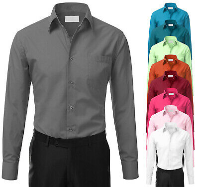 £14.12 • Buy Men's Tailored Fit Button Up Formal French Convertible Cuff Classic Dress Shirt