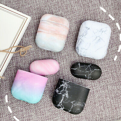$ CDN3.73 • Buy Simple Marble Design Airpod Case Cover For Apple Airpods 1 2 Earphone Accessorie