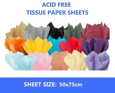 £6.49 • Buy 20 Sheets Acid Free Tissue Paper Various Colour 500x750 - Full Size