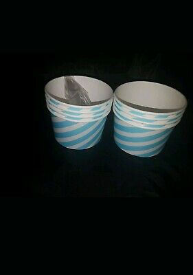 24 X Disposable Paper 8oz Delicious Ice Cream Cups  Jelly Sweet Treat Tubs Party • 5.99£