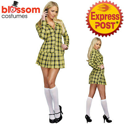 AU34.50 • Buy K905 Sexy School Girl Clueless Cher 1990s Film TV Fancy Dress Costume Outfit
