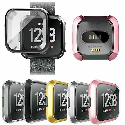 $ CDN5.43 • Buy Silicone TPU Case Smart Watch Screen Protector Frame Full Cover For Fitbit Versa