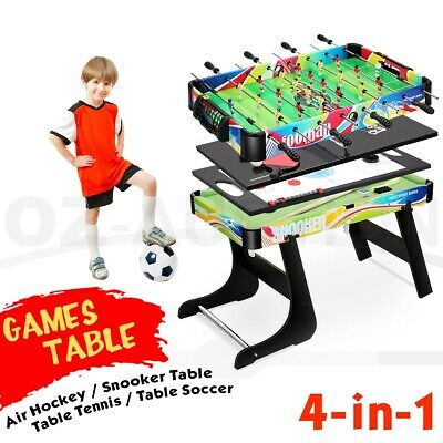 AU159.95 • Buy 4 In 1 Game Table Convertible Football Table Tennis Ice Hockey Snooker
