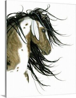 $56.24 • Buy Majestic Horse White Feathers Canvas Wall Art Print, Horse Home Decor