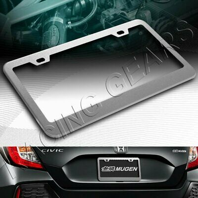 $6.95 • Buy 1pc Silver Aluminum Alloy Metal License Plate Frame Holder Cover Front Or Rear