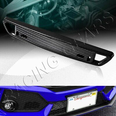 $8.95 • Buy Universal Carbon Style Front Bumper License Plate Mount Bracket Relocator