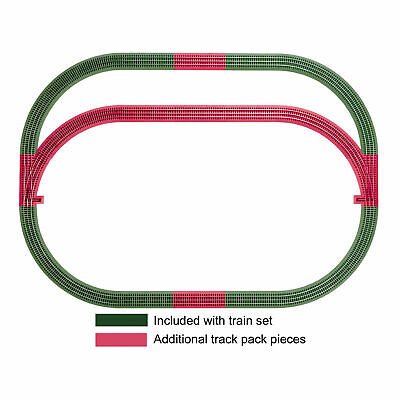 Lionel Trains O Gauge Fastrack Outer Passing Loop Add On Train Track 12 Pack Set • 110.69$