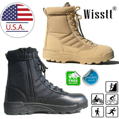 $38.69 • Buy SWAT Men's Tactical Duty Boots Army Military Combat Army Work Boots Hiking Shoes