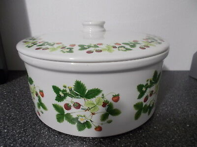 £65 • Buy RARE Portmeirion Summer Strawberries Large Pot With Lid