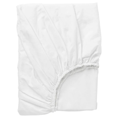 Fitted Sheet, White, Double Dvala • 16.99£