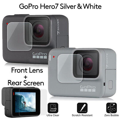 $ CDN4.24 • Buy Front + Rear Tempered Glass Screen Protector For GoPro Hero7 Action Camera Bu
