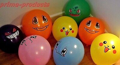 Pokemon Latex Party Balloons Pikachu, Squirtle & Various Designs, Party Supplys • 3.99£