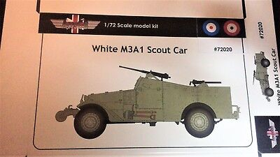 $18 • Buy 1/72 White M3A1 Scout Car (UK, France) +PE - NEW AGB 72020!
