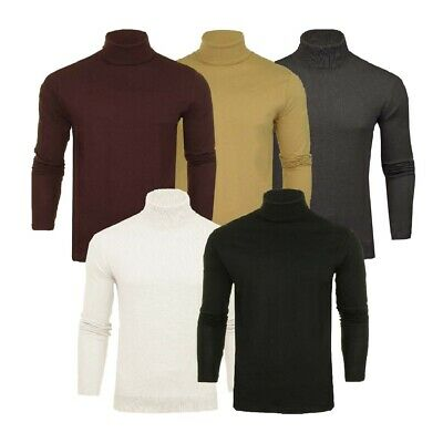 Mens Roll Polo Neck Jumper Funnel Cotton Top Jersey Base Layer Golf Brave Soul  • 12.99£