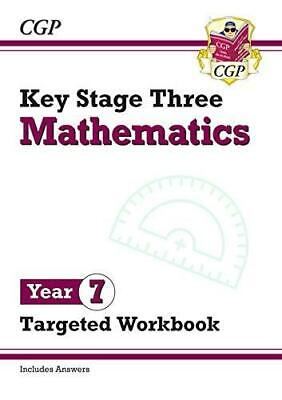 New KS3 Maths Year 7 Targeted Workbook With Answers By CGP Books Paperback NEW B • 6.25£