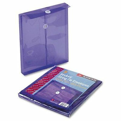 Smead 89544 Purple Poly Envelopes With String-tie Closure - Letter - 8.50  X 11  • 9.04£