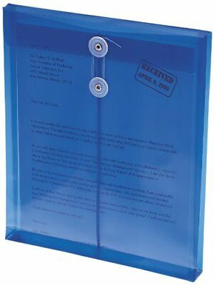 Smead 89542 Blue Poly Envelopes With String-tie Closure - Letter - 8.50  X 11  - • 12.16£