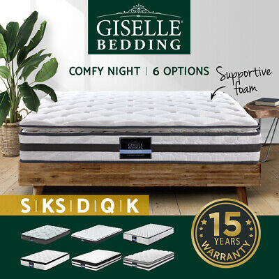 AU199.90 • Buy Mattress Queen Double King Single Bed Firm Spring Foam Pillow Euro Top