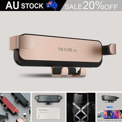 AU17.99 • Buy Universal Gravity Car Phone Holder Air Vent Mount Gps Metal Stand For IPhone AU