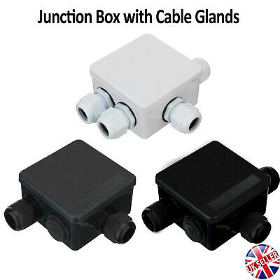 Waterproof Junction Box Cable Gland CCTV Camera LED Strip Electric Wire Outdoor • 5.27£