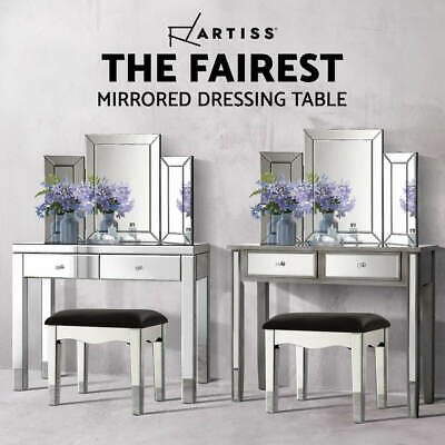 AU199.90 • Buy Artiss Mirrored Furniture Dressing Table Dresser Mirror Chest Of Drawers Stool