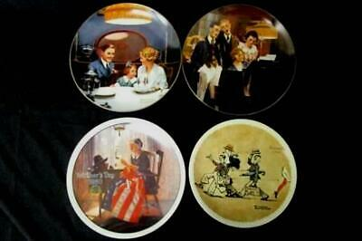 $ CDN35.55 • Buy Lot Of 4 Vintage 1980s Norman Rockwell Knowles Collector Plates