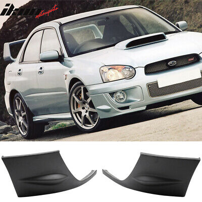 $75.99 • Buy Fits 04-05 Subaru Impreza WRX 2PCS Front Side Bumper Lip Cover Cap