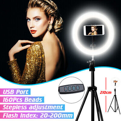 AU97.95 • Buy 🔥 10'' Dimmable LED Ring Light Tripod Stand Selfie Video Photo For Youtube Live