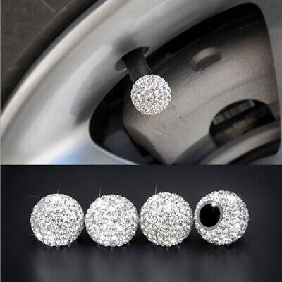 AU5.10 • Buy 4PCS Car Rhinestone Tire Valve Caps Diamond Shining Air Caps Auto Accessories