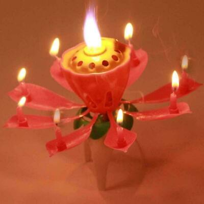 $ CDN1.66 • Buy 1pc Lotus Flower Candle Musical Blossom Candles Happy Birthday Party Gift U9Z3