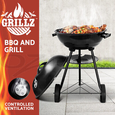 AU49.90 • Buy Grillz BBQ Grill Charcoal Smoker Outdoor Kitchen Portable Camping Patio Garden