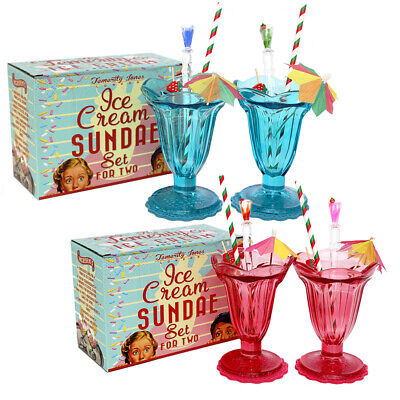 Sweet Ice Cream Sundae - Set Of Two • 7.95£