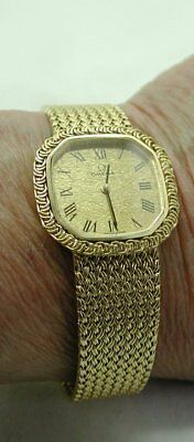 Ladies Beautiful Solid 18ct Gold OMEGA Bracelet Watch (Small Wrist Size 165mm) • 2,453£