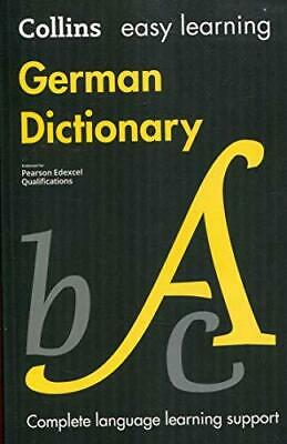 £10.36 • Buy Easy Learning German Dictionary By Collins Dictionaries Paperback NEW Book