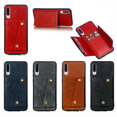 AU6.89 • Buy For Samsung S21 A52 A72 A50 Note 20 Leather Card Holder Pocket Stand Case Cover
