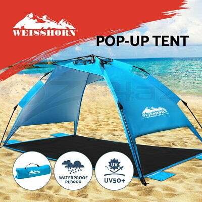 AU51.95 • Buy Weisshorn Pop Up Camping Tent Beach Portable Instant Up Hiking Sun Shade Shelter