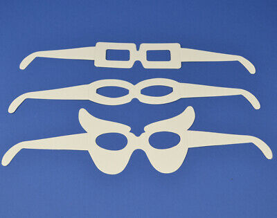 16 White Card Eye Glasses Shapes To Decorate For Kids Crafts | Masks To Decorate • 3.84£