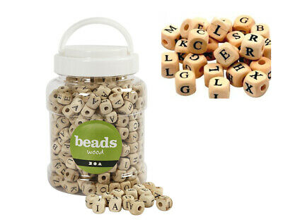 £18.80 • Buy 400 Wooden Alphabet Beads For Crafts   Wooden Craft Beads
