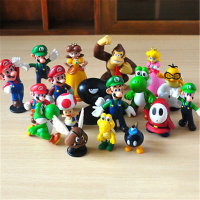 New 18 Pcs Super Mario Mini Figure Cute Toys Doll Action Figures Collection Gift • 9.99£