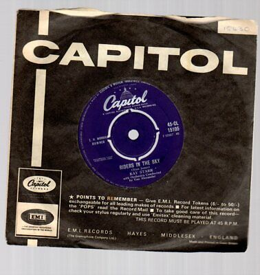 KAY STARR . RIDERS IN THE SKY / NIGHT TRAIN-UK 1959-.CAPITOL 7  VINYL 1950's Hit • 3.95£