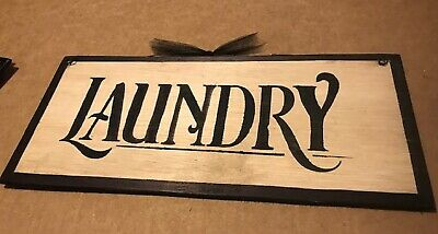 Laundry Room Wooden Sign Country Primitive Wood Farmhouse Wall Art Decor  5x12  • 6.43£