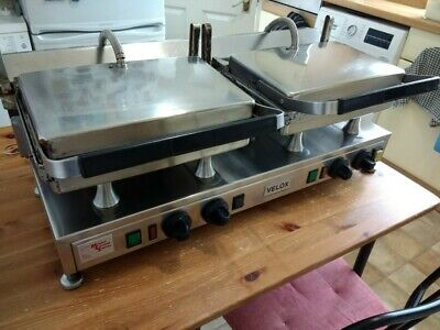 Velox High Speed Double Flat Plate Twin Contact Grill Griddle Panini Commercial • 595£
