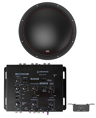 $419.95 • Buy MTX 7515-44 15  750w RMS Competition Subwoofer Car Audio Sub+Memphis Crossover