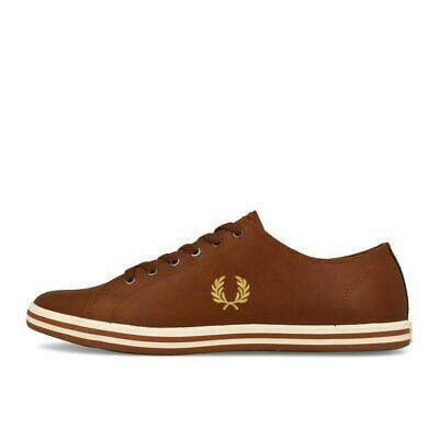 Navy Leather 608 Kingston Fred Perry Trainers B7163U