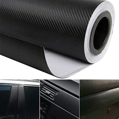 $2.99 • Buy 3D Car Interior Accessories Interior Panel Black Carbon Fiber Vinyl Wrap Sticker