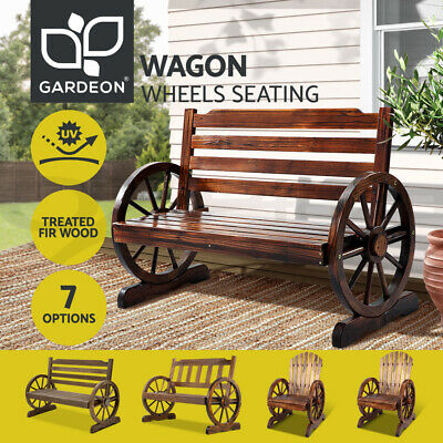 AU146.66 • Buy Gardeon Garden Bench Seat Outdoor Furniture Wooden Wagon Chair Backyard Lounge