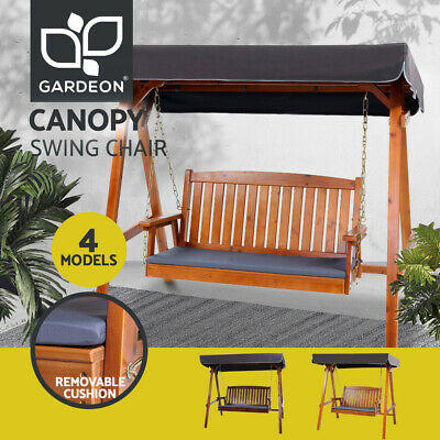 AU350.96 • Buy Gardeon Outdoor Furniture Swing Chair Wooden Patio Garden Bench Seat Canopy